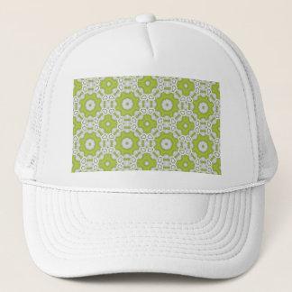 lime green tile trucker hat