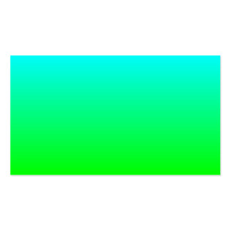 Lime Green to Aqua Gradient Pack Of Standard Business Cards