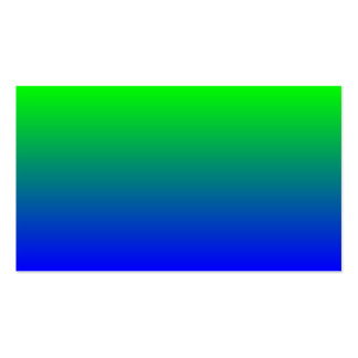 Lime Green to Blue Gradient Pack Of Standard Business Cards