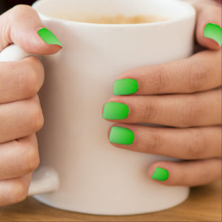 lime green to white gradient nail wraps