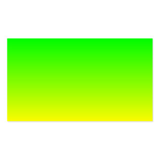 Lime Green to Yellow Gradient Pack Of Standard Business Cards
