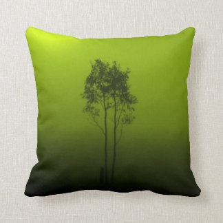 Lime Green Trees Pillow
