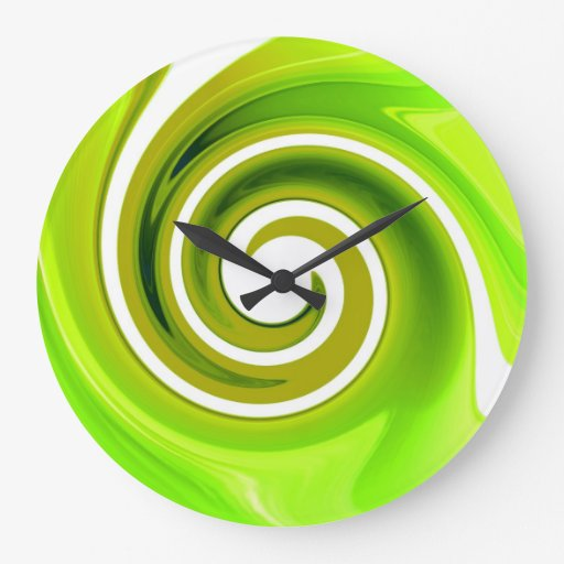 Lime green wall clock zazzle for Green wall clocks uk
