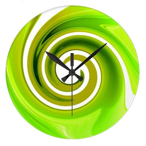 Lime green wall clock zazzle for Green wall clocks uk