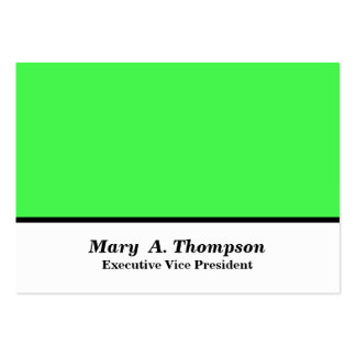 Lime Green White Color block Large Business Cards (Pack Of 100)