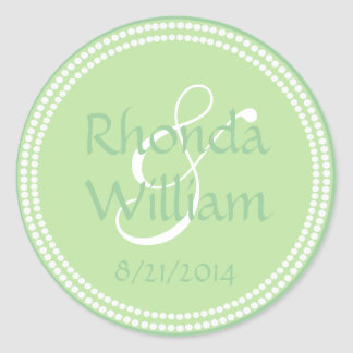 Lime Green & White Decorative Wedding Stickers