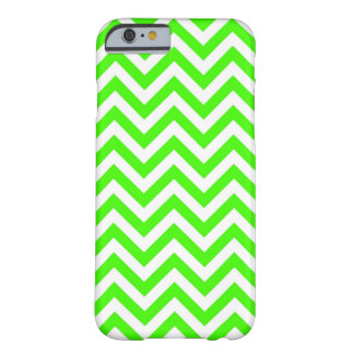 Lime Green White Large Chevron ZigZag Pattern Barely There iPhone 6 Case