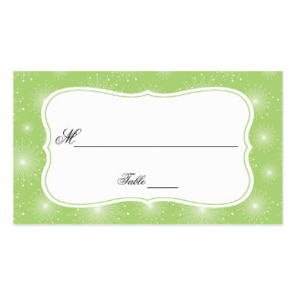 Lime Green White Starbursts Sunbursts Place Cards Pack Of Standard Business Cards
