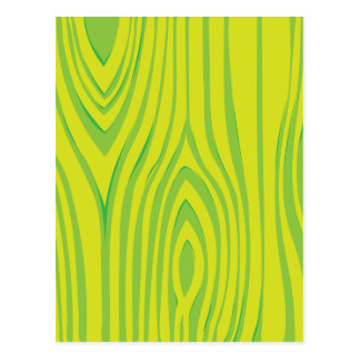 LIme Green Wood Grain Pattern Postcard