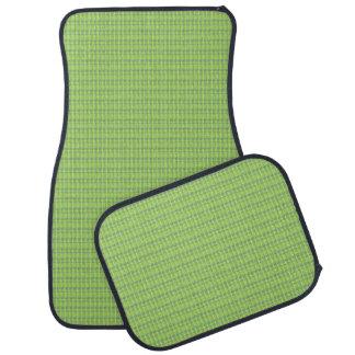 Lime Green Woven Look Car Mats