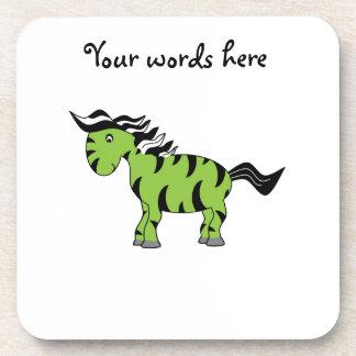 Lime green zebra coaster