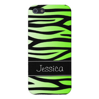 Lime Green Zebra Personalized Case For The iPhone 5
