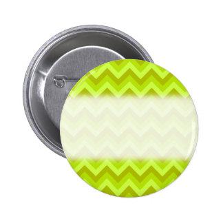 Lime Green Zig Zag Pattern. 6 Cm Round Badge