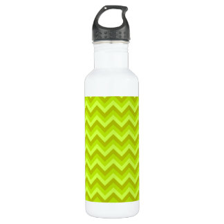 Lime Green Zig Zag Pattern. 710 Ml Water Bottle