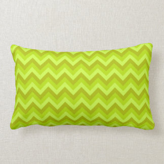 Lime Green Zig Zag Pattern Throw Pillows
