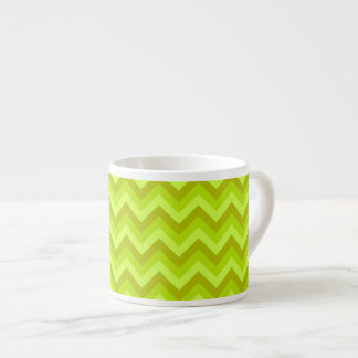 Lime Green Zig Zag Pattern. Espresso Cup