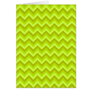 Lime Green Zig Zag Pattern. Greeting Card