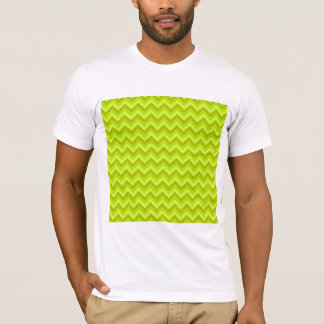 Lime Green Zig Zag Pattern. T-Shirt