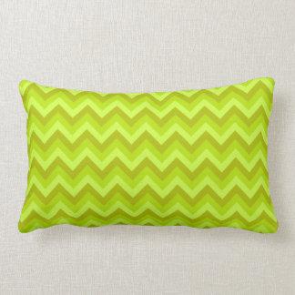 Lime Green Zig Zag Pattern. Throw Pillows