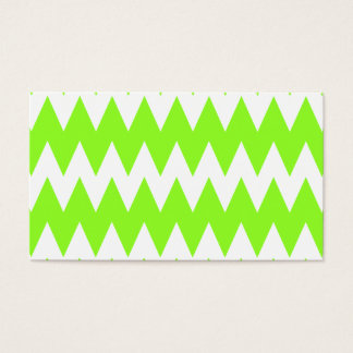 Lime Green Zigzags. Business Card