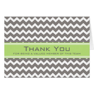 Lime Grey Chevron Employee Appreciation Card