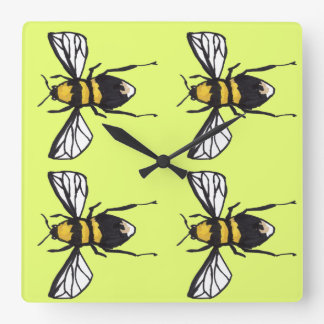 Lime Humble Bumblebee Clock