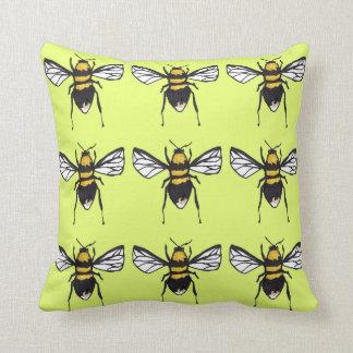 Lime Humble Bumblebee Cushion