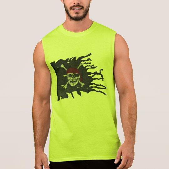 Lime Jolly Roger Sleeveless Shirt