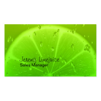 Lime juice business card template