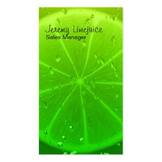 Lime juice business card templates