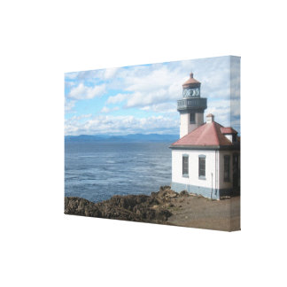Lime Kiln Lighthouse San Juan Island Canvas Print