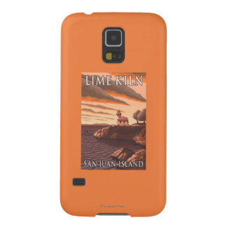 Lime Kiln Lighthouse Vintage Travel Poster Cases For Galaxy S5