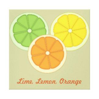 Lime, Lemon and Orange Canvas Print
