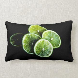 lime lemon lumbar cushion