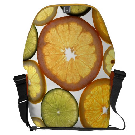 Lime lemon orange slices courier bags