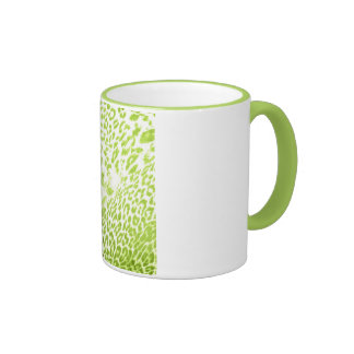 Lime Leopard Print Coffee Mugs