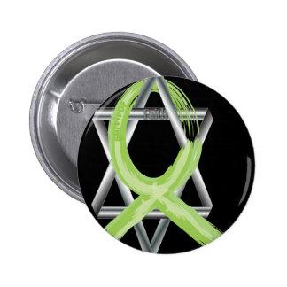 Lime Lymphoma Cancer Survivor Ribbon 6 Cm Round Badge