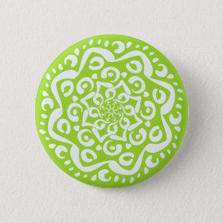 Lime Mandala 6 Cm Round Badge