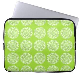 Lime Mandala Laptop Sleeve