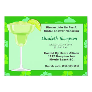 Lime Margarita Bridal Shower  Party  Invitation