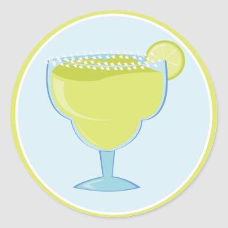 Lime Margarita Classic Round Sticker