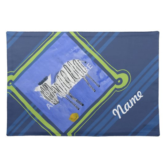 Lime & Navy Placemat  $27.95