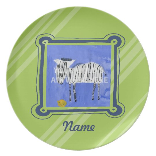 Lime & Navy Plate  $33.95