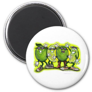 Lime Party 6 Cm Round Magnet