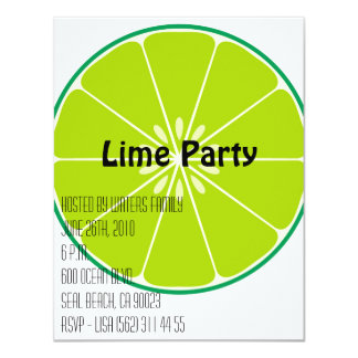 Lime Party Invitation