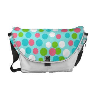 Lime Polka Dot Messenger Bag