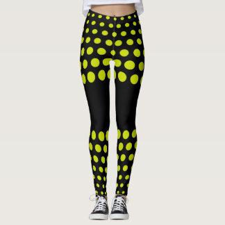 Lime Polka Dot Pattern Leggings