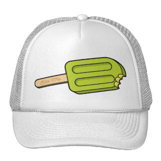 Lime Popsicle Bite Me Hat (White)