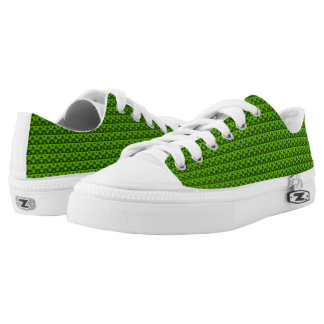 Lime Rhombus™ M/W Low Top Printed Shoes