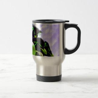 Lime Rockhopper Penguins Travel Mug